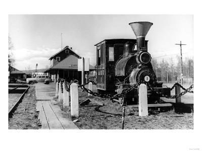 Fairbanks, Alaska View of Alaska Railroad Depot Photograph - Fairbanks, AK