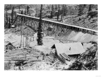 Dewey Gold Mine on Thunder Mountain, Idaho Photograph - Thunder Mountain, ID