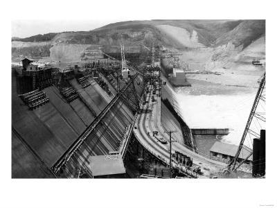 Grand Coulee Dam Under Construction View Photograph - Grand Coulee, WA
