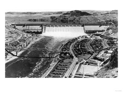 Grand Coulee Dam View from Air Photograph - Grand Coulee, WA