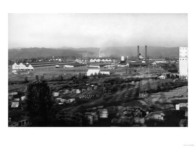 Longview, WA View of Long-Bell Lumber Co. Photograph - Longview, WA