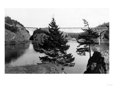 Deception Pass Bridge, Washington View Photograph - Deception Pass, WA