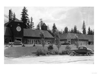 Gilchrist, Oregon Commercial Center View Photograph - Gilchrist, OR