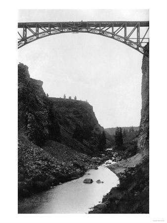 Crooked River Bridge in Central Oregon Photograph - Central Oregon