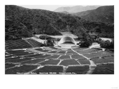 Hollywood, California Hollywood Bowl View Photograph - Hollywood, CA