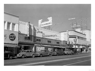 Hollywood, CA Town View Tom Breneman's Photograph - Hollywood, CA