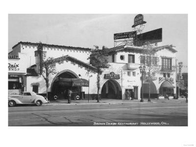 Hollywood, CA Brown Derby Restaurant View Photograph - Hollywood, CA