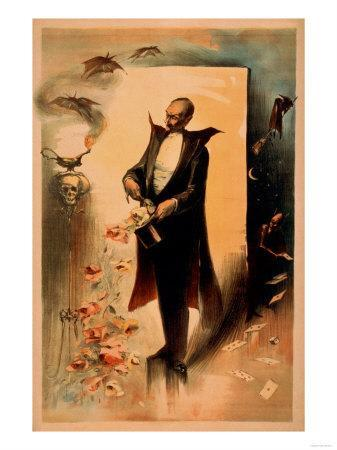 Magician Pulling Roses out of Hat Poster