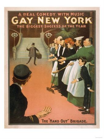 Gay New York - Rich Gentleman Theatre Poster