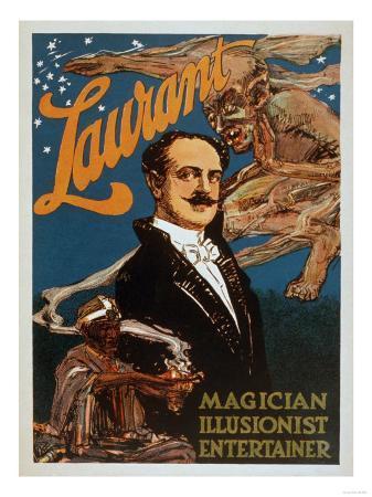 Laurant Magician, Illusionist, Entertainer Magic Poster