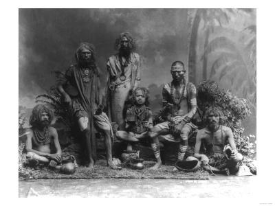 Group of Fakirs in India Photograph - India