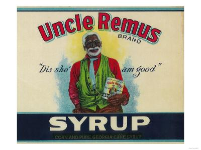 Uncle Remus Syrup Label - Cairo, GA
