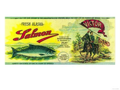 Victor Salmon Can Label - Yes Bay, AK