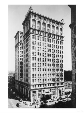 Spokane, WA View of Old National Bank Building Photograph - Spokane, WA
