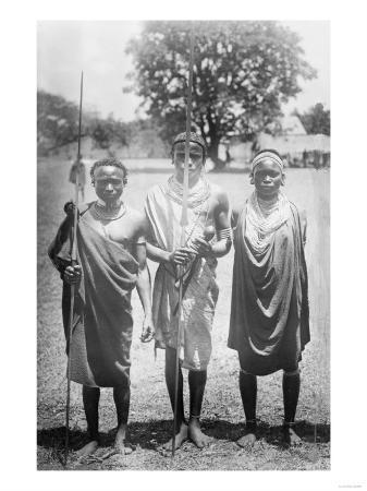 Nandi Warriors in Africa Photograph - Africa