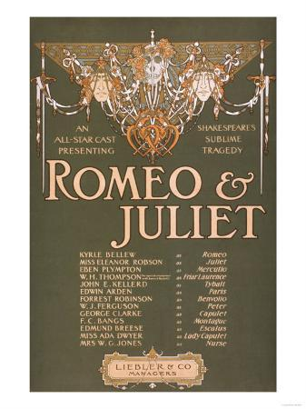 """Shakepeare's Sublime Tragedy """"Romeo & Juliet"""" Poster"""