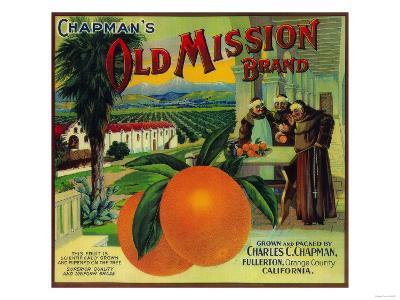 Old Mission Orange Label - Fullerton, CA