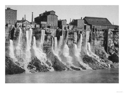 Mills on the American Side of Niagara Falls Photograph - Niagara Falls, NY