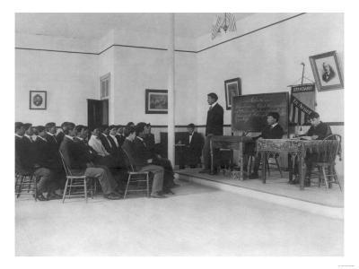 Men's Debate Class Carlisle Indian School Photograph - Carlisle, PA