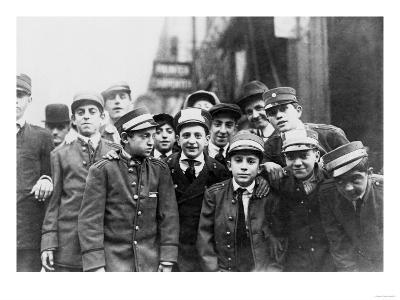 Messenger Boys on Strike in New York Photograph - New York, NY
