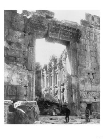 Ruins of a Temple in Baalbek Lebanon Photograph - Baalbek, Lebanon
