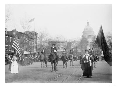 The Head of the Women's Suffrage Parade Photograph - Washington, DC