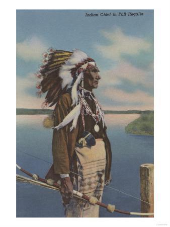 Northwest Indian Chief in Full Regalia - Northwest USA
