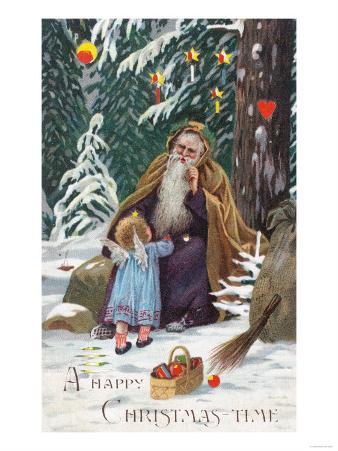 A Happy Christmas Time Father Christmas with Angel