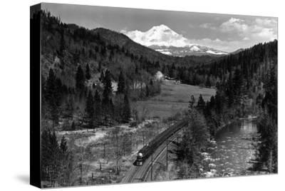 View of the Mountain, Valley, and Train - Mt. Shasta, CA