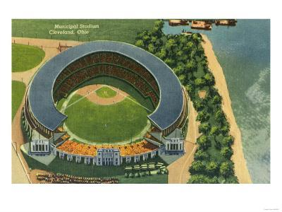 Aerial View of Municipal Stadium - Cleveland, OH