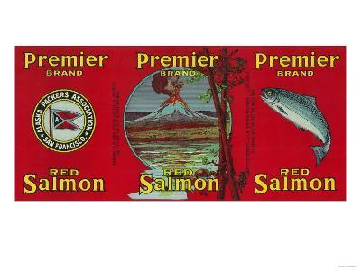 Premier Salmon Can Label - San Francisco, CA