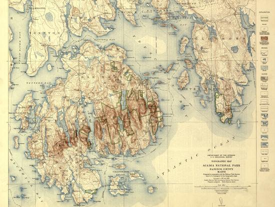 Acadia National Park - Topographic Panoramic Map on all 58 national parks, printable map national parks, map of all resorts, map of all water, federal and national parks, map of county parks, map west united states parks, map of all native american reservations, map of all caves, map of all sinkholes, map of all peninsulas, colorado national parks, top 25 national parks, map of all hospitals, map showing national parks, map of all air force bases, map of all casinos, map of all animals, map with national parks, massachusetts national parks,