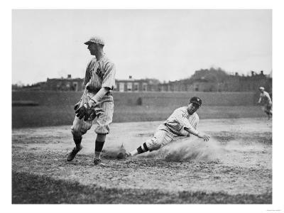 Washington Player & Boston Red Sox Baseball Photograph - Washington, DC