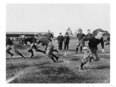 Yale Footbal Practice Photograph - New Haven, CT