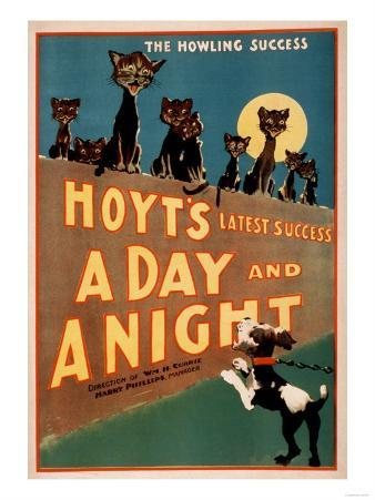 """""""A Day and a Night"""" Cats and Dogs Musical Poster"""