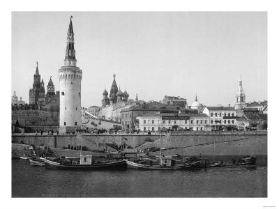 View of the Kremlin and the Moscow River Photograph - Moscow, Russia