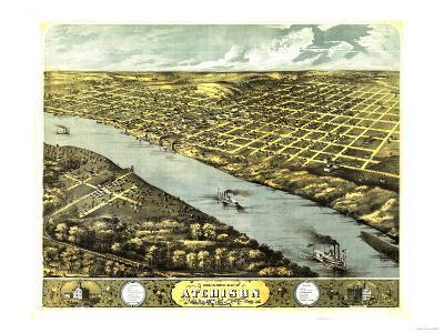 Atchison, Kansas - Panoramic Map