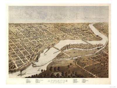Appleton, Wisconsin - Panoramic Map