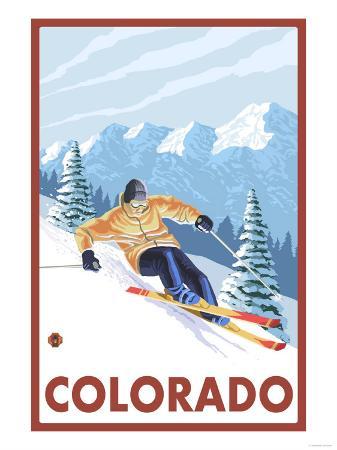 Downhill Snow Skier - Colorado
