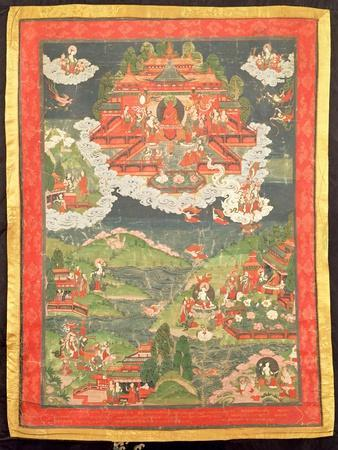 Thangka of the Paradise of Amitabha