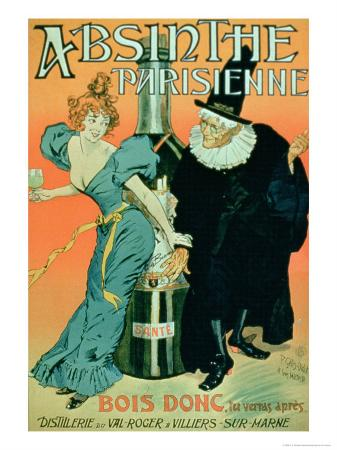 So Drink, You'll See Later, Poster Advertising Parisian Absinthe