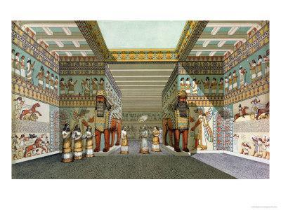 Reconstruction of the Hall of Assyrian Palace, Discoveries in the Ruins of Nineveh and Babylon