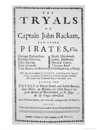 The Trials of Captain John Rackham and Other Pirates, c.1721