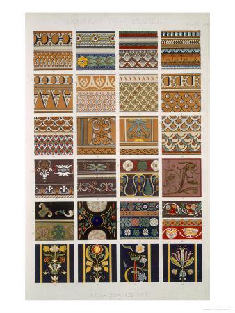 Renaissance No 7, Plate LXXX, from The Grammar of Ornament by Owen Jones