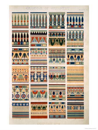 Egyptian No 4, Plate VII, from The Grammar of Ornament by Owen Jones