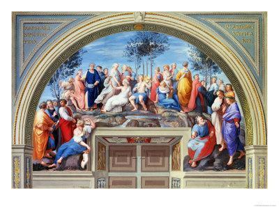 Parnassus and the Disputa, Stanza Della Segnatura, Print by Giovanni Volpato and Raphael Morghen