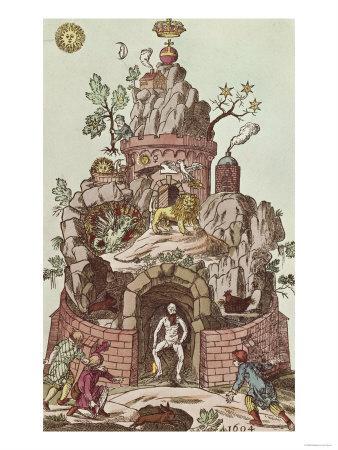 Philosophers Mount, an Alchemical Symbol of Regeneration, 1604