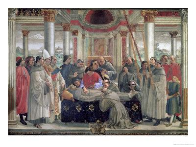 The Death of St. Francis, Scene from a Cycle of the Life of St. Francis of Assisi, 1486