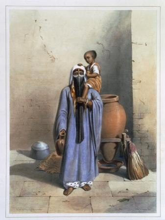 Fellah Woman and Child, Illustration from The Valley of the Nile, Engraved by Charles Bour
