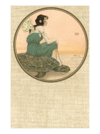 Girl with Tortoise, Art Nouveau